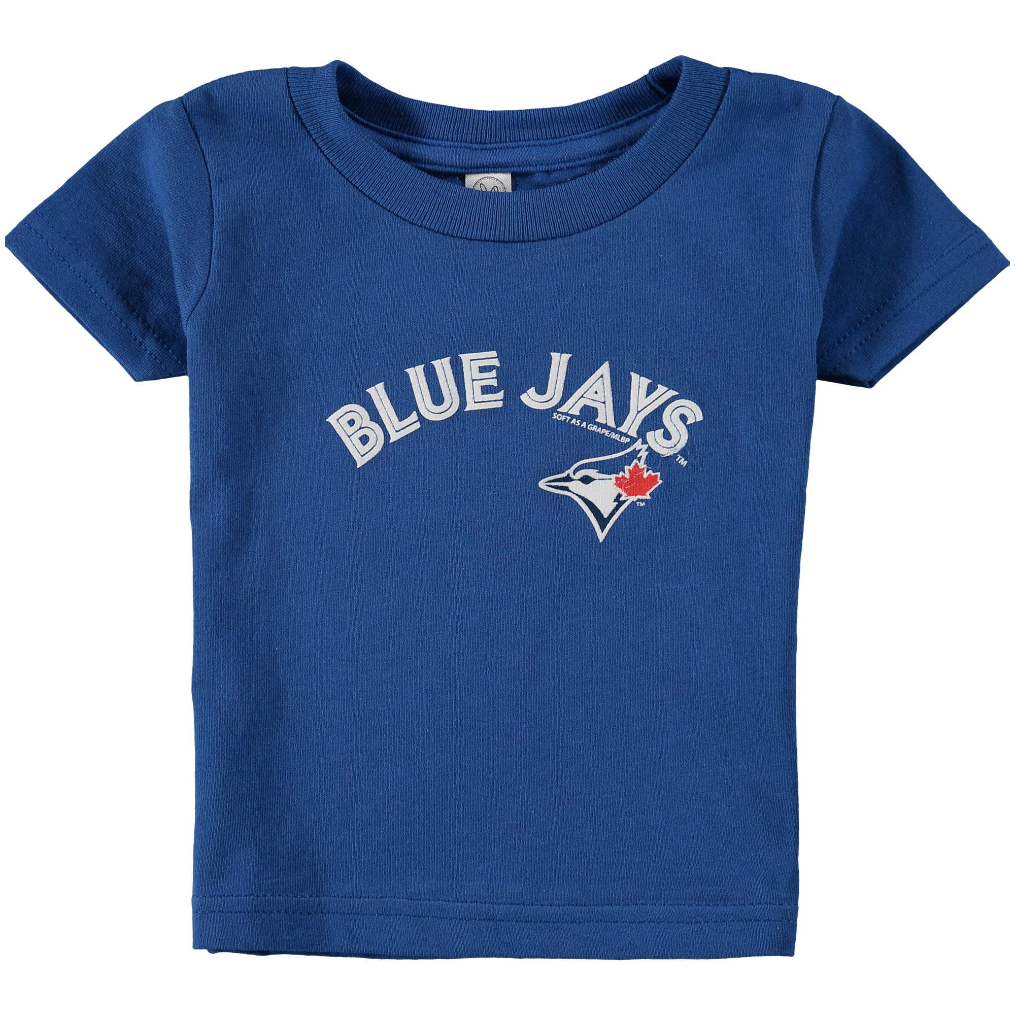 Toronto Blue Jays Soft as a Grape Infant Wordmark T-Shirt - Royal