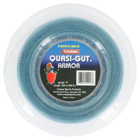 Quasi Gut Armor 16G Tennis String Reel Blue (Gut 16g Strings)