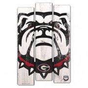 Georgia Bulldogs Sign 11x17 Wood Fence Style