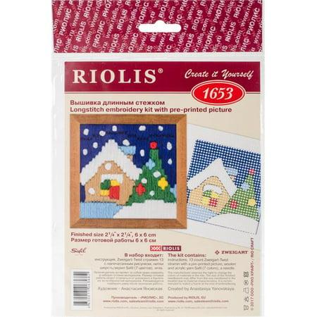 RIOLIS Christmas Eve Stamped Cross Stitch Kit-2.25