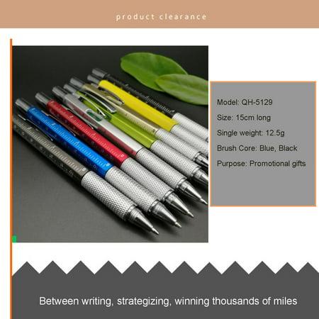 6 in 1 Tech Tool Pen Multi-functional Screwdriver Tool Ruler Ballpoint Pen - image 3 of 5