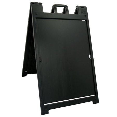 The 'Signicade Deluxe' Portable Sign Stand, Color=Black