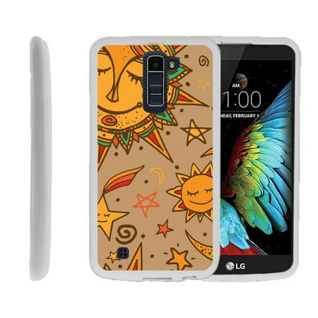 LG K10, LG Premier LTE, K430, Flexible Case [FLEX FORCE] Slim Durable TPU Sleek Bumper with Unique Designs - Smiling Sun - Smiling Sun