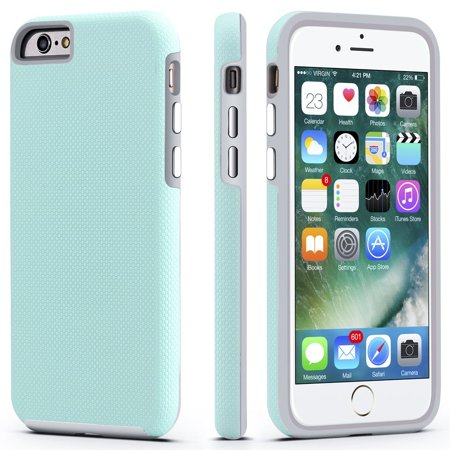 meet 2c7f2 4222f iPhone 6 / 6s Case, CellEver Dual Guard Protective Shock-Absorbing  Scratch-Resistant Rugged Drop Protection Cover for Apple iPhone 6 / 6S  (Mint)