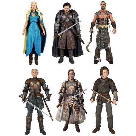 Game Of Thrones 6 Legacy Action Figure Bundle Arya Robb Jamie Drogo More
