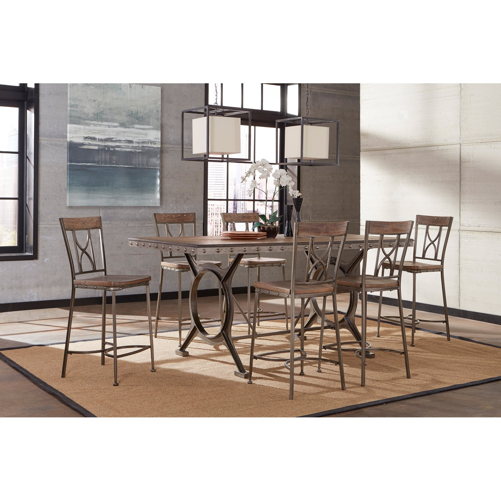 hillsdale paddock 7 piece counter height dining set