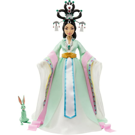 Netflix's Over the Moon Chang'e Collector Doll (14-inch) with Traditional Chinese Gown and Accessories, Includes Jade Rabbit Figure