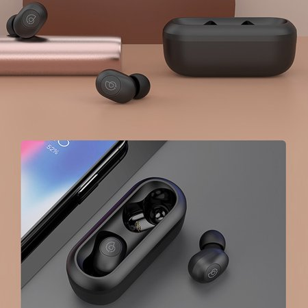 Haylou GT2 TWS Mini Earphone BT5.0 Wirelessly Earbuds Handsfree Sport Headphone Noise-canceling Headset 3.7g Mini Body / Portable Charging-line / Low Latency Game Mode / Master and Auxiliary Headphon - image 5 of 7