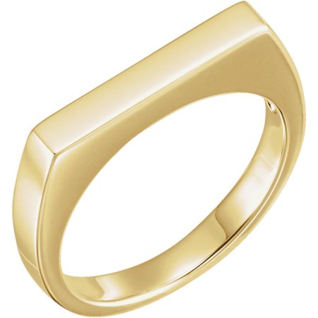 14k Yellow Gold Polished Metal Fashion Stackable Ring -- Size 6.5 - 5.4 Grams - Gold Metal Fashion Ring