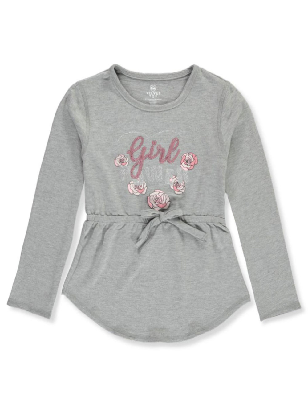 Pink Velvet Girls L//S Top