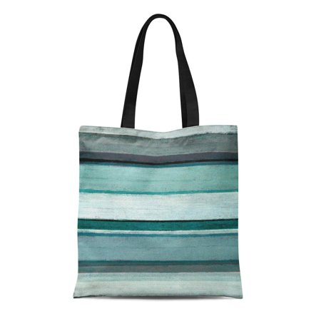 ASHLEIGH Canvas Tote Bag Green Turquoise Link Teal and Grey Abstract Reusable Handbag Shoulder Grocery Shopping Bags