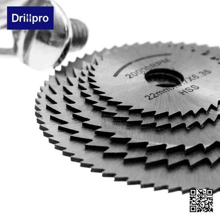 6pcs HSS Rotary Blade Circular Saw Disc Wheel for Rotary Tool Cutting +1 Mandrel - image 8 of 10