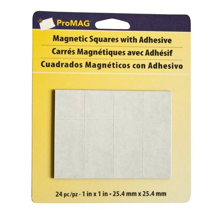 - Magnum MagneticsCorporation ProMAG Square Flexible Magnets with Adhesive, 1