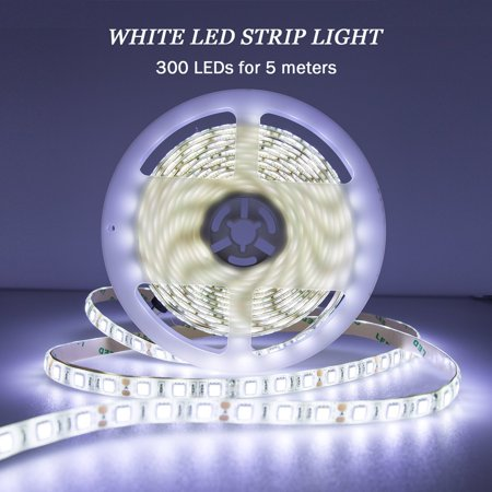Led Strip Light 12v Cool White Waterproof Rope Lights 16 4ft Smd 5050 300 Leds Flexible Tape With Supply For Home Kitchen By