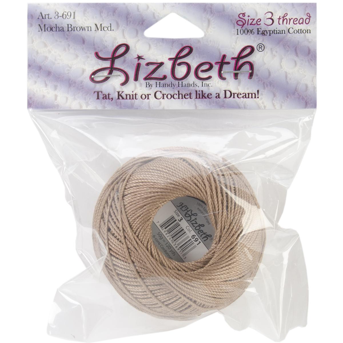 Lizbeth Cordonnet Cotton Size 3-Mocha Brown Medium - image 1 of 1