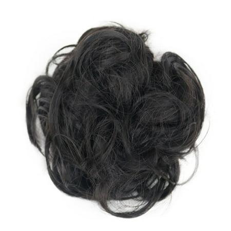 Curly Messy Bun Hair Piece Hair Scrunchie Fake Natural Look Extensions  Hairpiece - Walmart.com b71e3a633