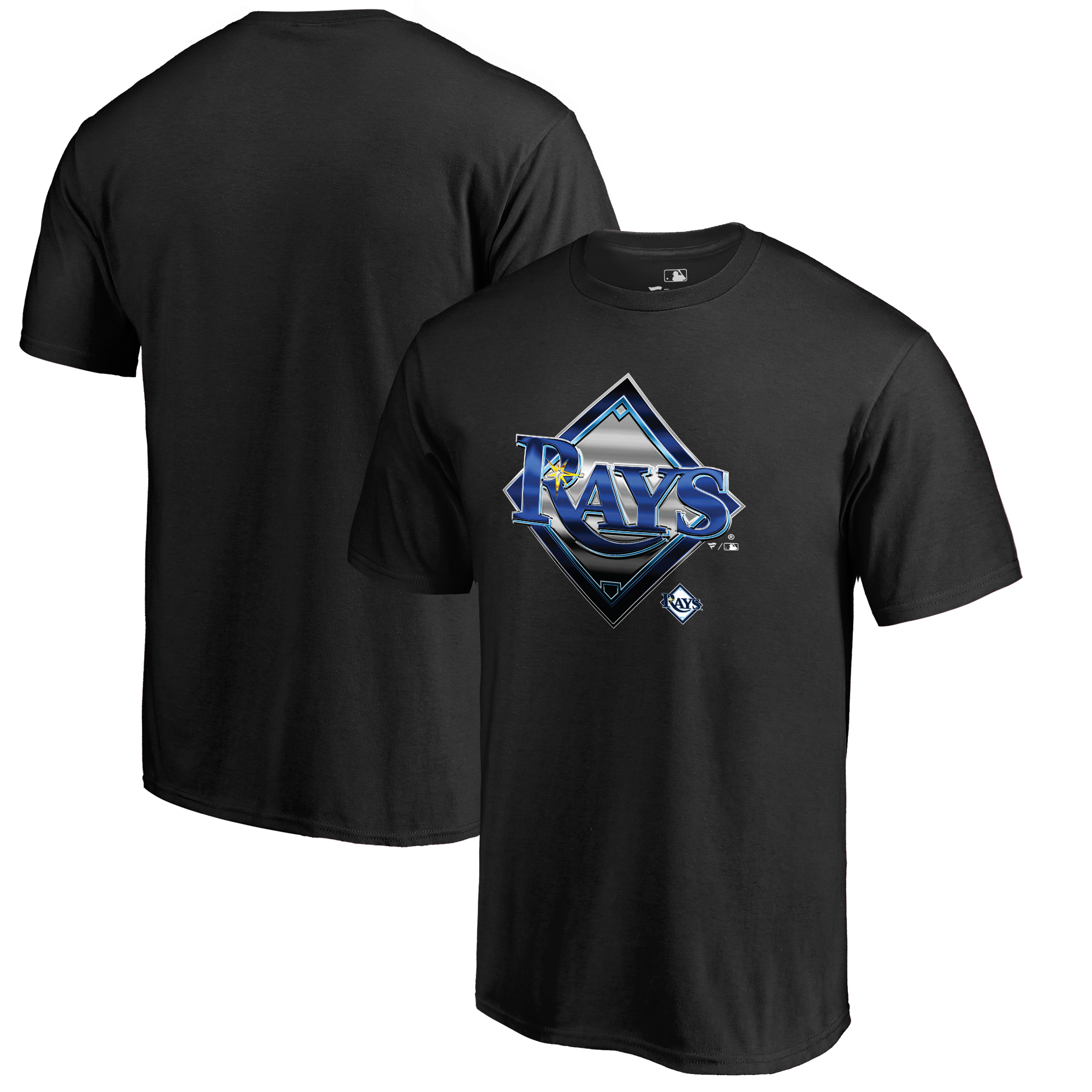 Tampa Bay Rays Fanatics Branded Midnight Mascot T-Shirt - Black