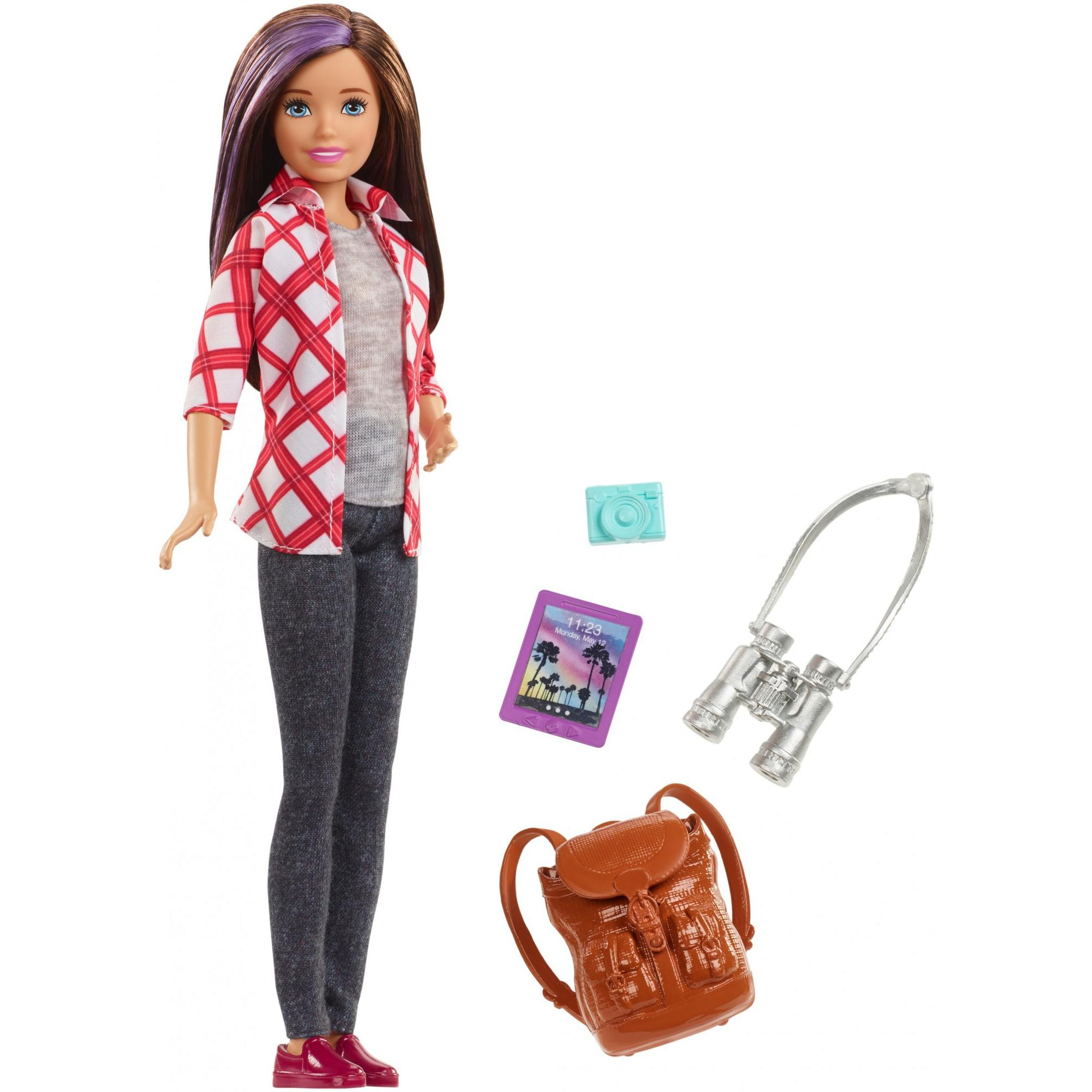 Barbie Skipper Travel Doll with 4 Tourist Themed Accessories