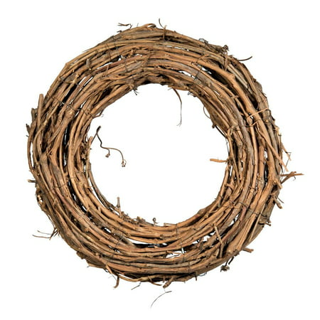 Shine Company 16 inch by 3.5 inch depth Handcrafted Natural Grapevine Wreath, 2 - Large Grapevine Wreath