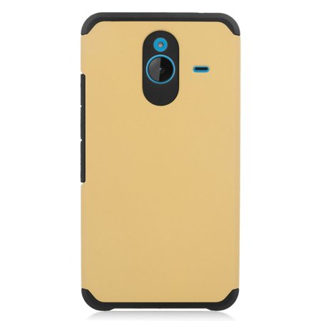 Insten Hard Dual Layer Silicone Case For Microsoft Lumia 640 XL - Gold/Black - image 3 of 3