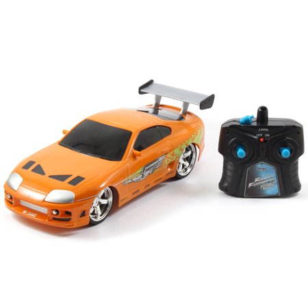 Jada Toys Fast & Furious RC 1995 Toyota Supra Vehicle (1/16 Scale), Orange