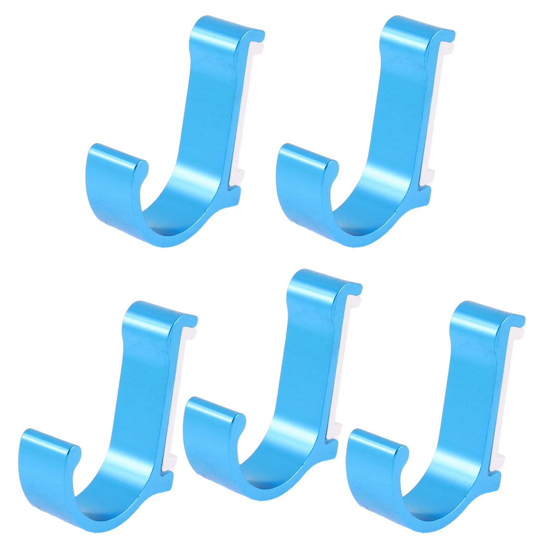 5pcs Utility Modern Blue Wall Hooks for Hanging Coats Garment Bags