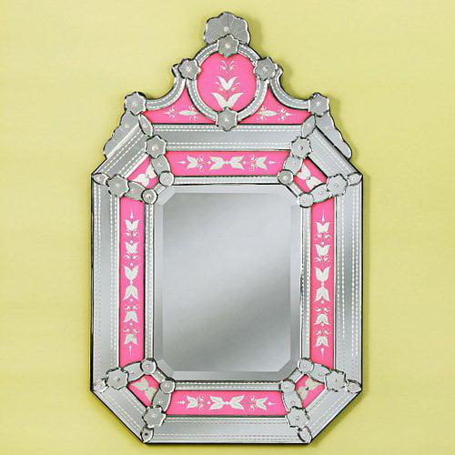 Roxanne Pink Venetian Mirror - 27W x 43H in.