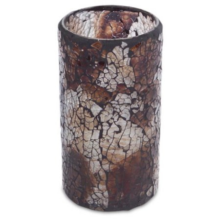 Pack of 4 Chocolate Brown Mosaic Battery-Operated LED Flameless Candles 6