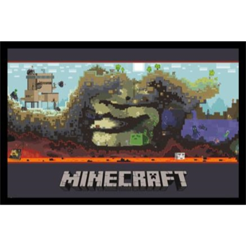 buyartforless Minecraft Micro World Landscape Wall Art