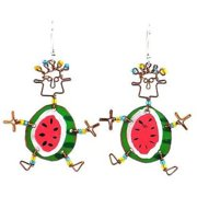 Creative Alternatives Dancing Girl Round Melon Earrings