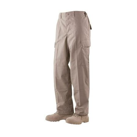 1314 Mens BDU Pants, Poly/Cotton Rip-Stop, Khaki