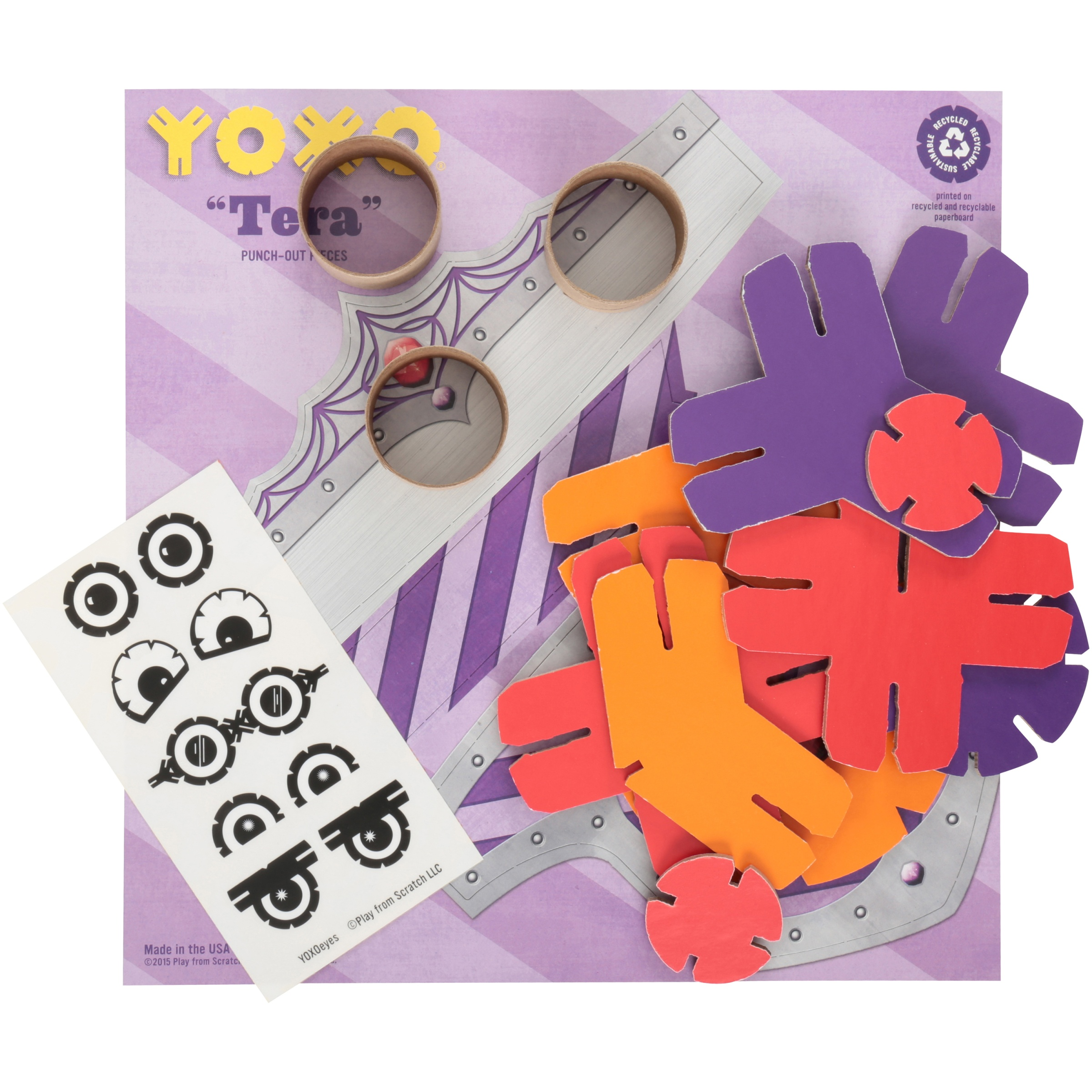Yoxo Intermediate Tera 18 Inch Tall Robot Toy Construction System Kit 39 pc Box by Yoxo
