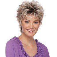 High-temperature Synthetic Fiber Synthetic Curly Wigs for Women Short Small Curl Wig Natural Gradient Color Hairpiece