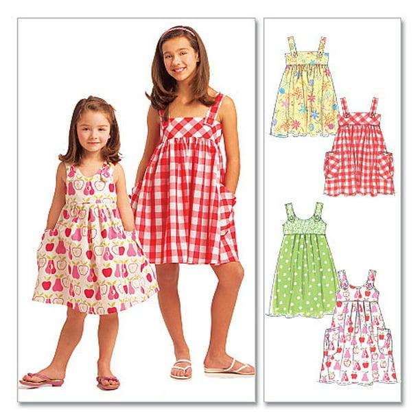 McCall s Muster Kinder//M/ädchen Kleider 6 Gr CCE 3