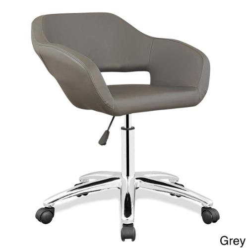 Upholstered Arm Office Chair Grey