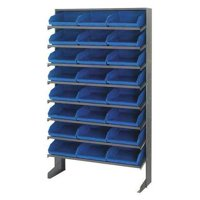 QUANTUM STORAGE SYSTEMS QPRS-109BL Sloped Shelving System, 12Dx36Wx60H, Blue