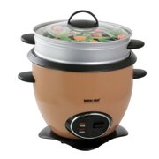 Better Chef 10-Cup Rice Cooker With Food Steamer Attachment