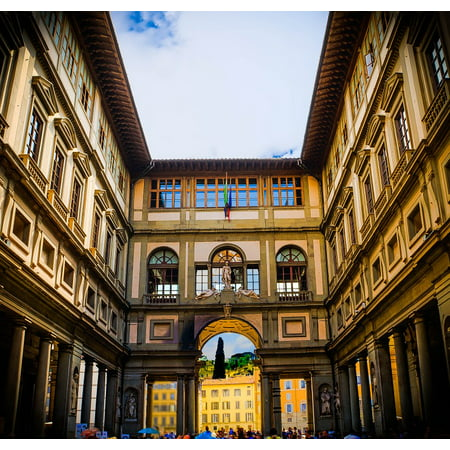 Laminated Poster Architecture Italy Florence Uffizi Gallery Museum Poster Print 11 x