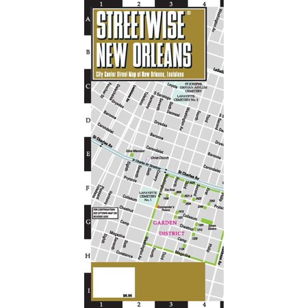 Streetwise new orleans map - laminated city center street map of new orleans, louisiana - folded map: (City Creek Center Map)