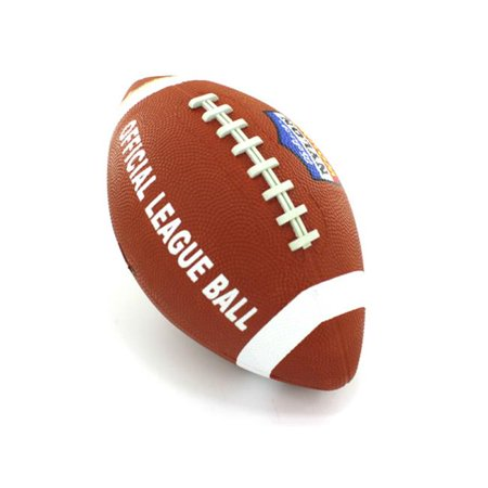 Footballs Bulk Buy (Bulk Buys OA846-4 Brown and White Rubber Junior Sized Football - Pack of)