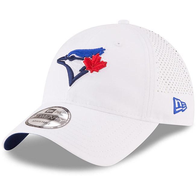 Toronto Blue Jays New Era Perforated Pivot 9TWENTY Adjustable Hat - White - OSFA