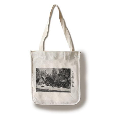 Long Barn, California - Exterior View of Long Barn Lodge (100% Cotton Tote Bag - Reusable)