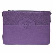 Christian Art Gifts 364165 Bible Cover-Fashion & Trust, Large - Purple