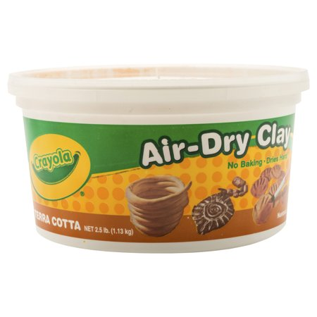 - Crayola Air Dry Modeling Clay, 2.5 Lbs Bucket, No Bake Clay, Terra Cotta