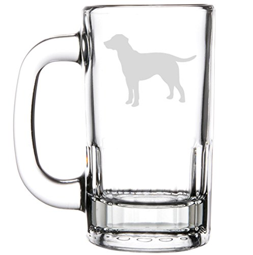 12oz Beer Mug Stein Glass Labrador Retriever by