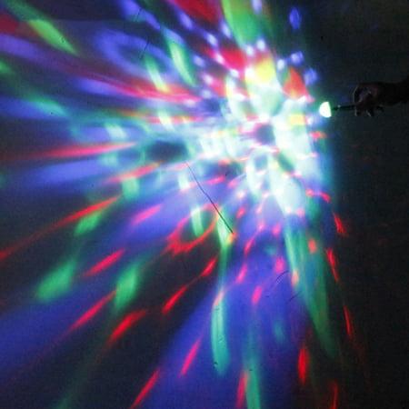 Mini Disco Light Rotating USB & Port Magic Ball Light RBG LED Lamp Portable Home Party Stage Light Random Color - image 4 de 7
