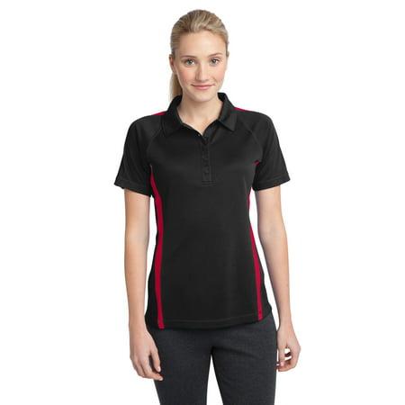Colorblock Mesh Polo - Sport-Tek Ladies PosiCharge Micro-Mesh Colorblock Polo