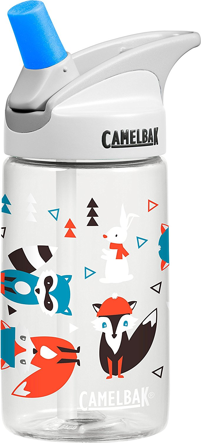 Winter Woodland Eddy Kids Water Bottle, .4 L, White By CamelBak Ship from US by