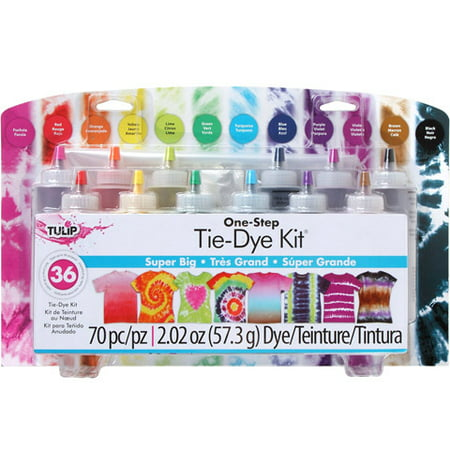 Tulip One-Step Super Big Tie Dye Kit - 12 Colors - Makes 36 - Tie Dye Kits At Walmart