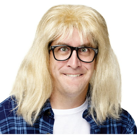 Saturday Night Live Garth Algar Wig and Glasses Adult Halloween Accessory](Live Halloween Screensavers)